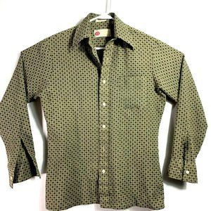 Vtg Sears Kings Road Button Up Shirt Rockabilly